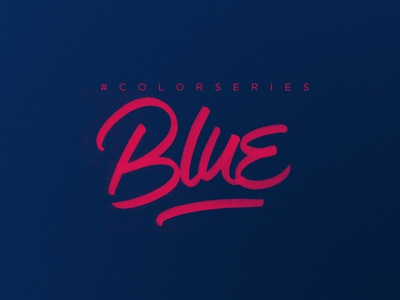 #ColorSeries project. color blue brushpen typography handmade lettering mindfuck logo