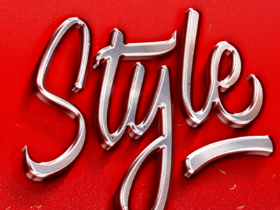 Chrome Text Effect | Brush Pen Lettering diseñografico diseño guadalajara script typography type font handmade brushpen design calligraphy lettering