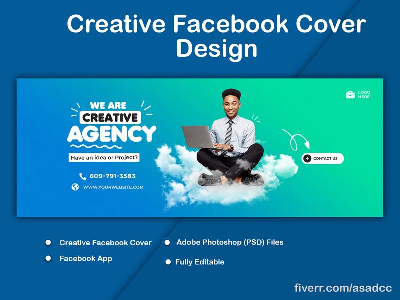 Creative Facebook Cover Design advertising facebook ads adobe illustrator adobe photoshop adobexd covers cover art cover facebook banner facebook ad facebook cover