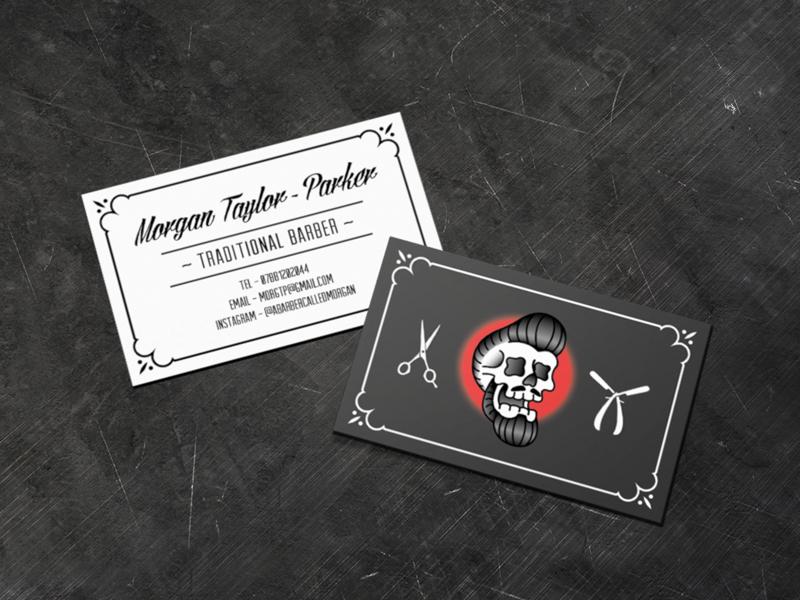 Traditional Barber Business Card logodesign folk logo illustration identity graphicdesign design branding