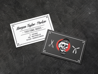 Traditional Barber Business Card