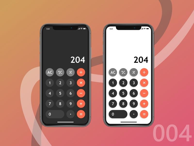 Daily 004 - Calculator daily dailyui 004 daily ui numbers calculator ui calculator vector mobile ux ui illustrator illustration icon design app