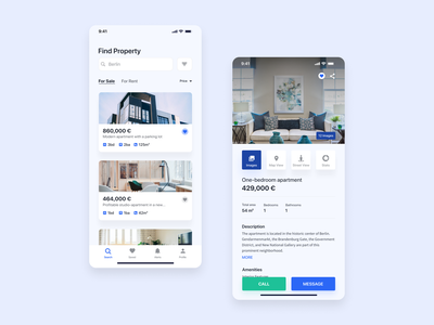 Property Marketplace uidesign creative concept real estate app real estate agency property app property real estate ux app design ui