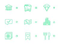 mobile destination guide icons