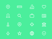 travel-related ui iconography