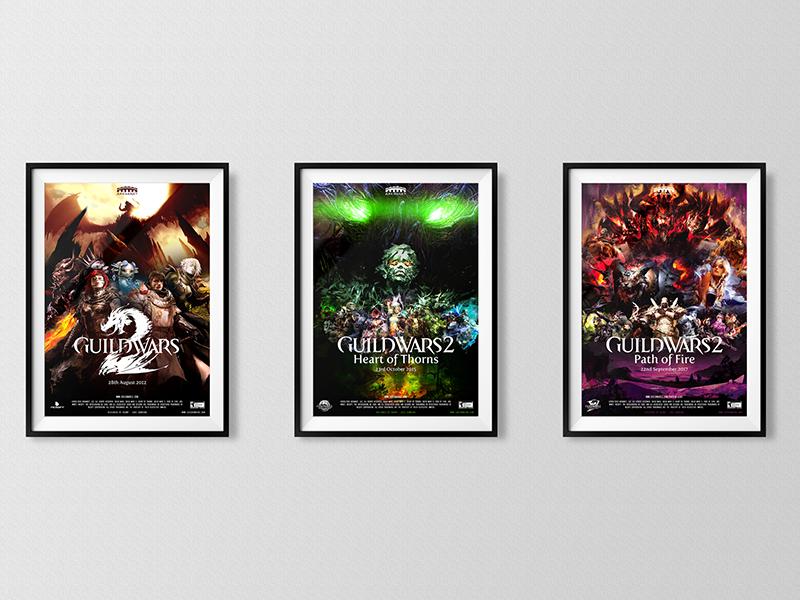Guild Wars 2 Movie Poster Trilogy trilogy poster movie guild wars