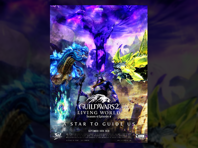 Guild Wars 2 S4E04 Movie Poster poster challenge manipulation photo game design poster movie gw2 wars guild