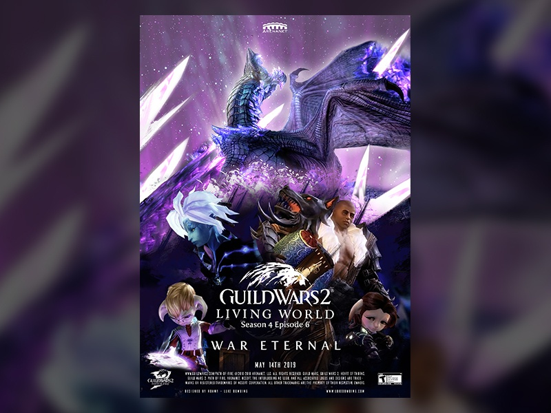 Guild Wars 2 S4E06 Movie Poster game art game poster movie guild wars