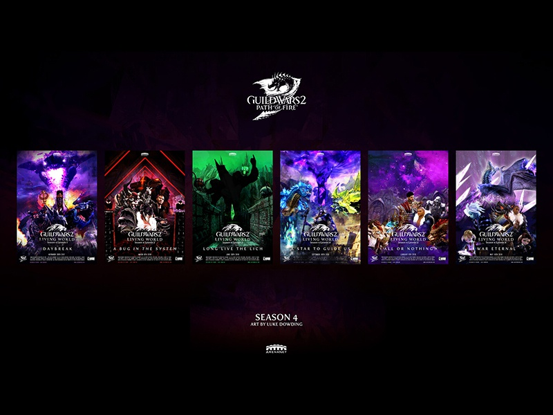 Guild Wars 2 all of my Season 4 Movie Posters poster movie game art guild wars