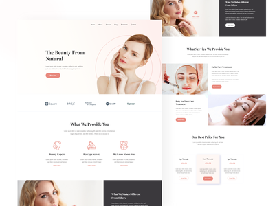 Beauty care website design uiuxdesign awesome design product landing page product best of dribbble designs uiux design homepagedesign homepage design beauty landing page beauty care landing page agency website website design agency landing page best landing page design clean design awesome work homepage agency