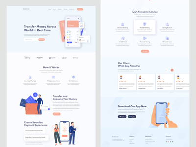 Banking landing page brand identity clean homepage banking bank website landingpage uiux clean design homepagedesign agency website agency landing page agency best landing page design branding insurance financial landing page homepage website design bank website bank landing page