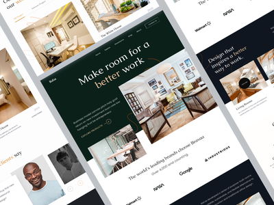 Interior Landing Page Exploration animation ui design illustration agency landing page homepage agency branding logo motion graphics graphic design uiux website design website landing page design landing page ecommerce ecommerce landing interior landing page interior