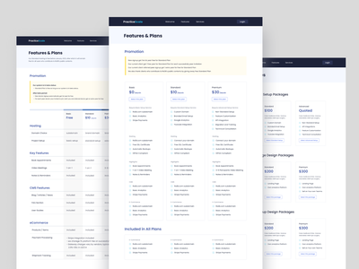 Features Plan & Services Pages ux design ui design ui ux design builder sass appointment doctor patients agency ecommerce plan price plan price plan services features plan innerpage homepage landing page hospital website medical website