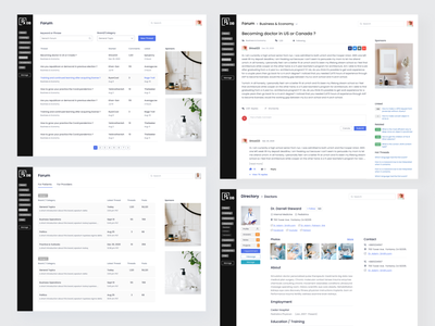 RXDB Doctor Profile & Forum Page Design design website agency landing page homepage agency motion graphics branding logo graphic design clean design popular design uiux design ui design landing page design homepage design website design medical website doctor page medical doctor profile