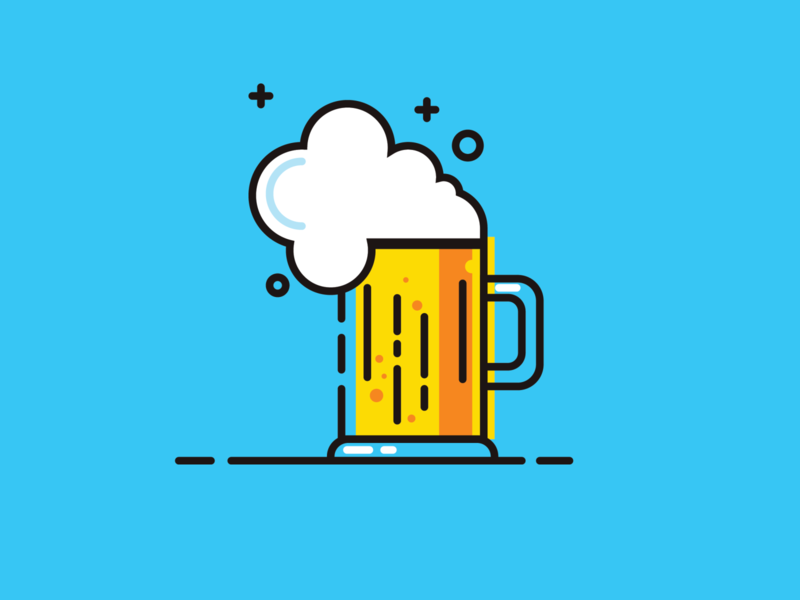 Beer flat illustration flat illustration