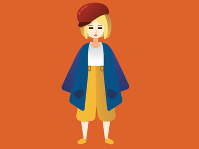 Girl people illustrator vector flat illustration flat illustration