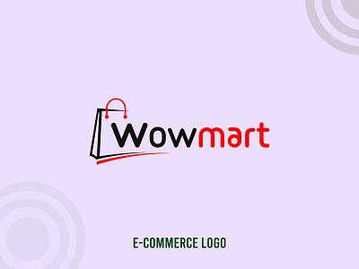e commerce logo wowmart.com.bd wowmart logo online shop logo creative logo logos logodesign logotype logo vector illustration logo design minimal design typography branding creative creative design ecommerce logo e-commerce logo