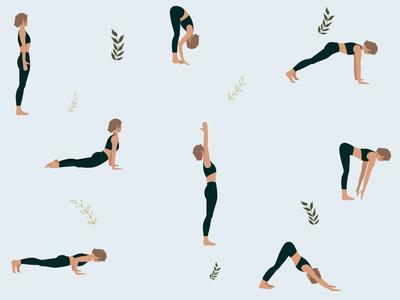 Yoga Pattern asana vector illustration pattern yoga