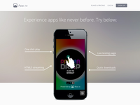 App.io Landing Page