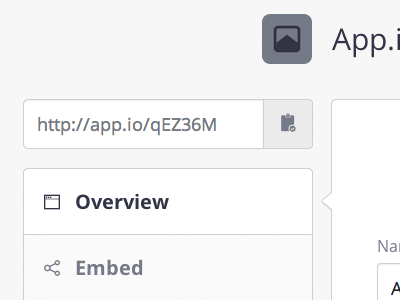 Dashboard Redesign app.io redesign clean