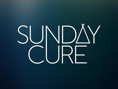 Sunday Cure Branding sunday cure dj music logo brand