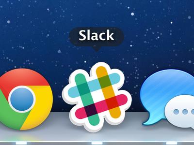 Slack Dock Icon slack chat app icon dock hashtag