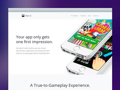 App.io September 2014 app.io ad redesign app