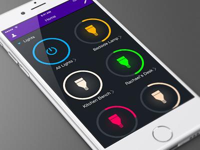 LIFX App Redesign iphone lighting design app lifx