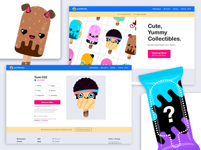 Yumiblocks - Digital Collectibles on the Blockchain character vector cute blockchain collectibles digital ethereum
