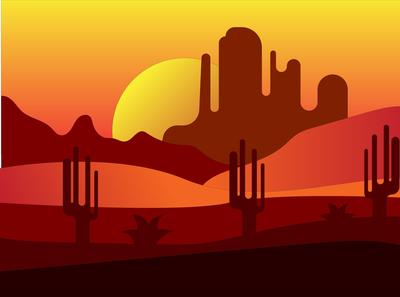 Evening Western Desert