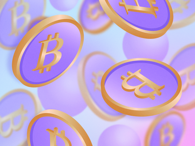 Free Bitcoins Falling Illustration illustration gold violet pastel colors pastel color pastel coins coin crypto currency cryptocurrency crypto btc bitcoins bitcoin free vectors free vector free eps freebies free freebie