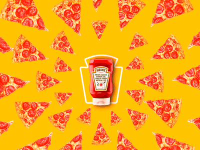 Ketchup Heinz advertising publicity design publicity art design art direction brand branding