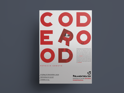 """CODE ROOD """"CODE RED"""" (Dutch) graphic design poster poster design typography design"""