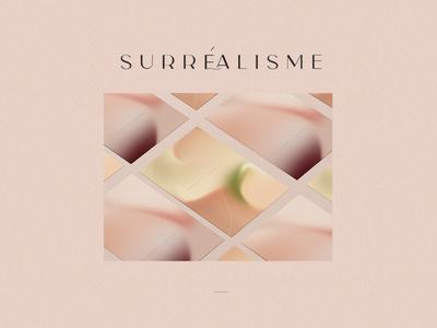 Surréalisme - Gradients posters about feelings during quarantine