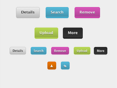 Buttons buttons colors icons css3 css dabblet pictos