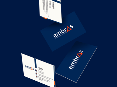 Embras Iluminação Eficiente business card logo design logo identity brand iluminação