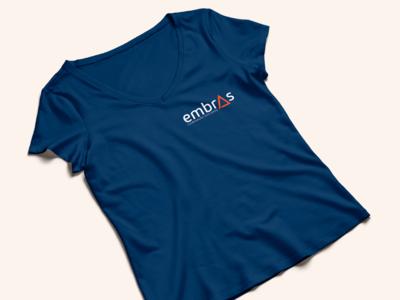 Embras Iluminação Eficiente uniforme t-shirt logo design logo identity brand iluminação
