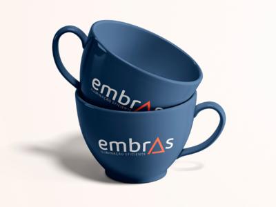 Embras Iluminação Eficiente xícara caneca coffee tea tea cup mug logo design logo identity brand iluminação