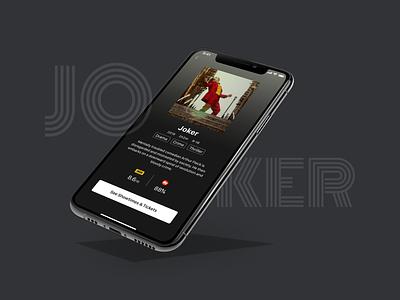 Movie Joker joker mockup movie mobile daily ui app ui design ui design