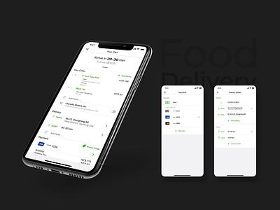 Food Delivery App food fooddelivery cart mockup daily ui ux mobile app ui ui design design