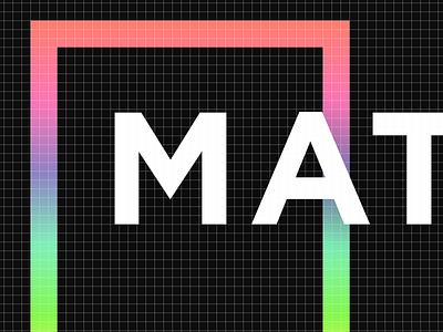 Matter Brand monogram black dark type gradient color branding matter