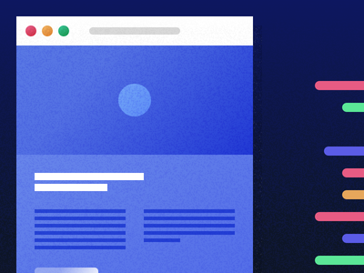 Illustrated Code code ui texture simple browser minimal material interface illustration gradient