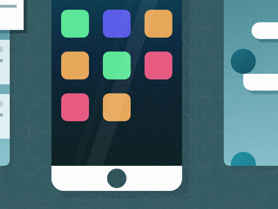 Illustrated Apps gradient illustration interface material minimal app phone simple texture ui