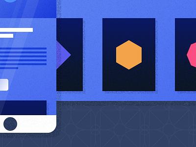 Illustrated Site ui texture simple phone app minimal material interface illustration gradient