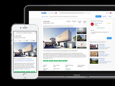 Realo: Home Detail branding simple clean web design website phone responsive design realo