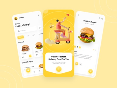 Food Delivery - Mobile App food delivery application food delivery app mobile app ui design 3d mobile app app design delivery app mobile app food delivery app food delivery aplication trendy design mobile app design mobile app mobile ui ui design 3d uiux clean ui uidesign