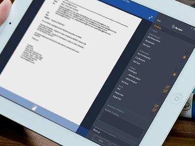 Document Review iPad  App coding pane mobile coding ipad