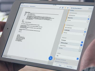 Document Review iPad App - Lighter Version