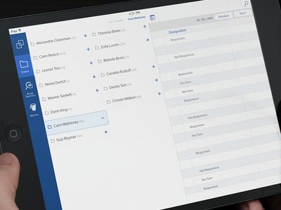 iPad Folder Navigation