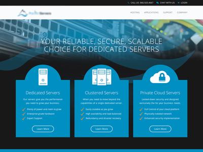 Server Homepage code design web ui home header